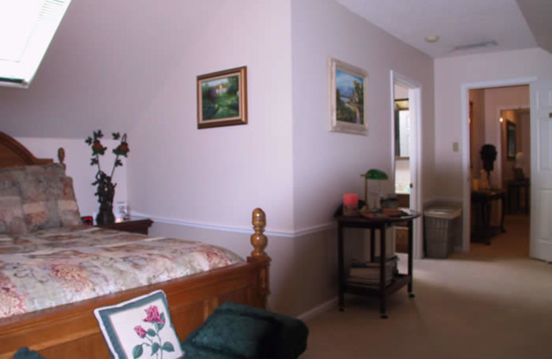 Guest room at Sassafras Inn Bed & Breakfast.