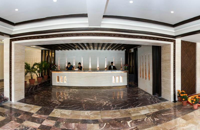 Lobby view at Nepal Shangri-La Village Luxury Resort.