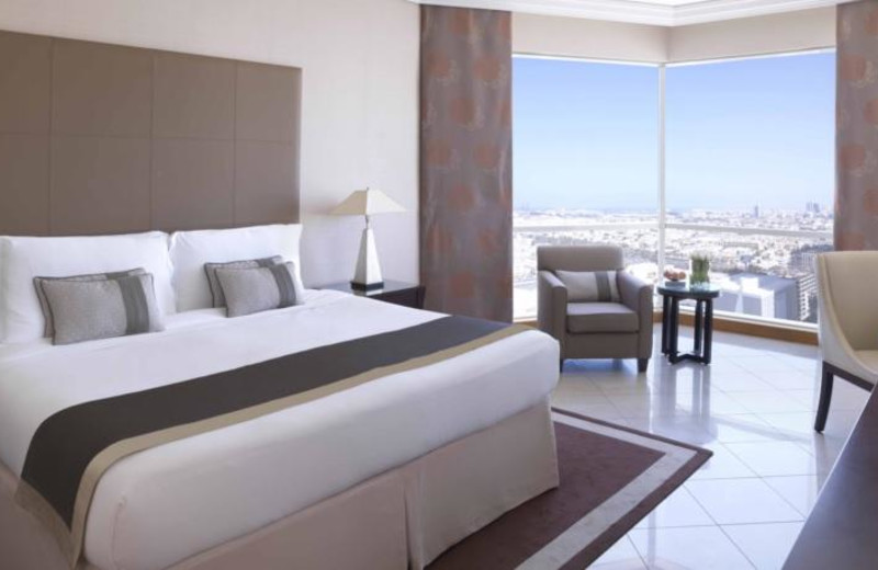 Guest room at Fairmont Dubai.