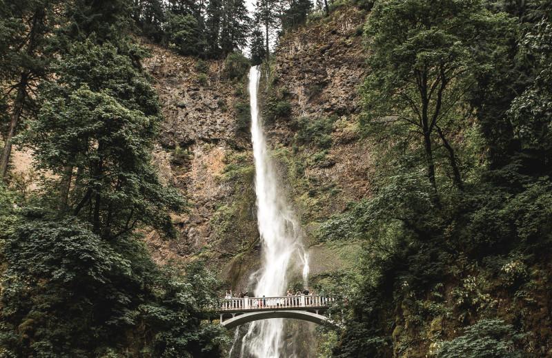 Waterfall near Inn At The Gorge.