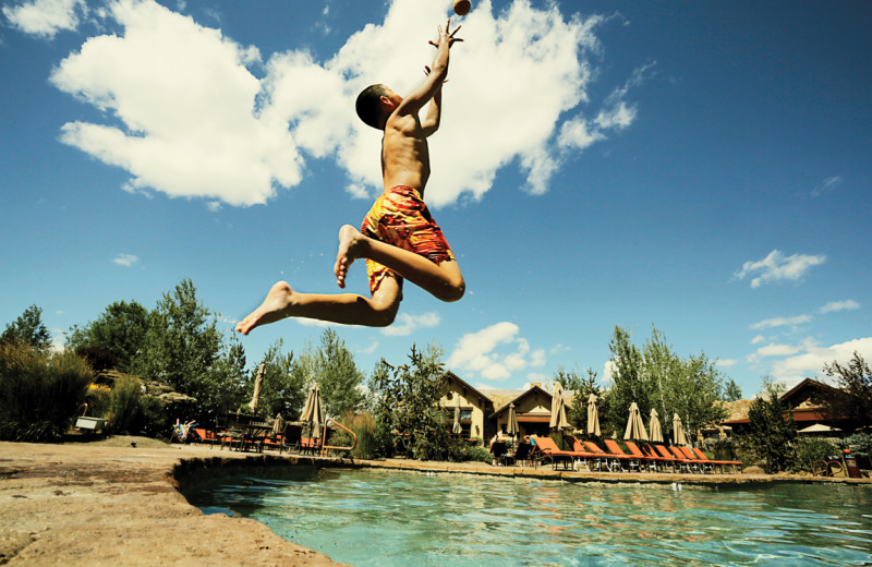 Outdoor pool at Pronghorn Resort.