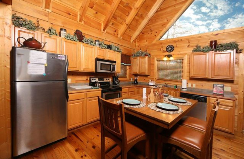 Rental kitchen at Eden Crest Vacation Rentals, Inc.