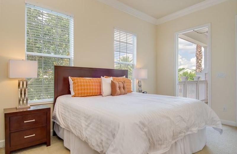 Rental bedroom at Luxury Reunion Rentals.