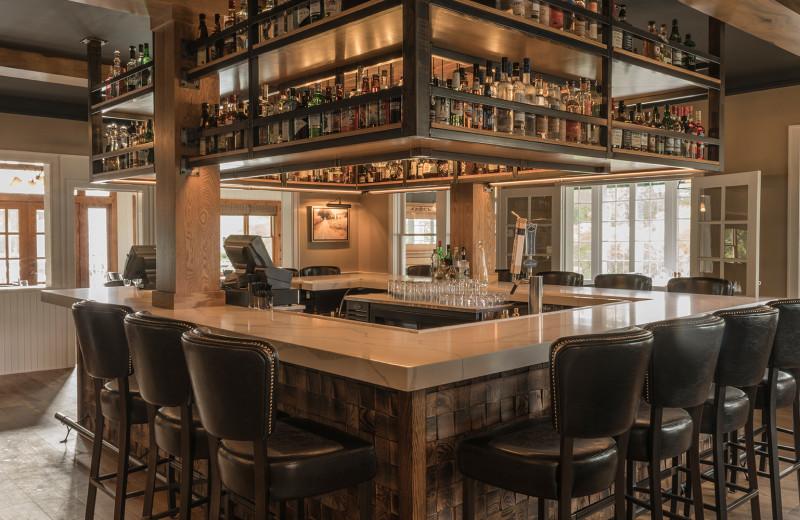 Bar at Riverside Inn of Leland Michigan.
