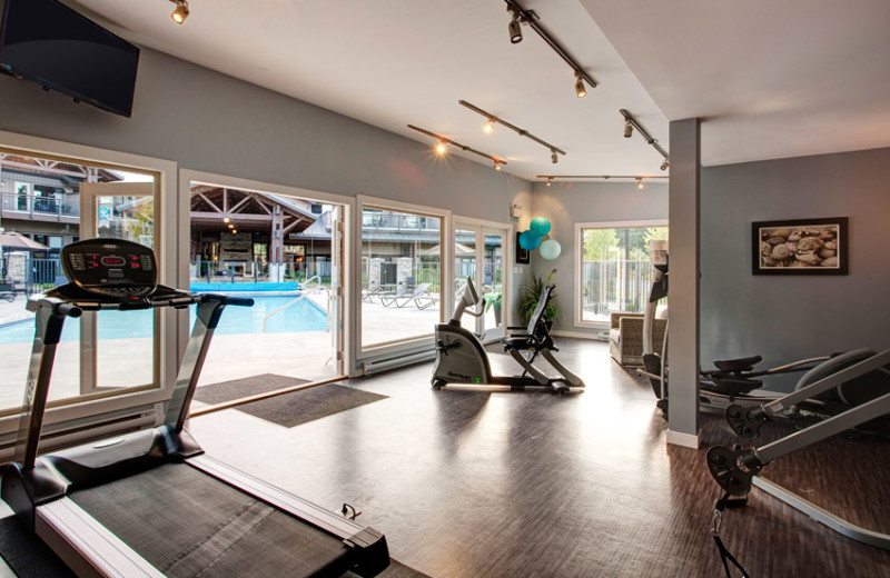 Fitness room at Sunrise Ridge Waterfront Resort.