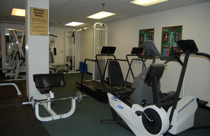 Fitness room at Fitger's Inn.