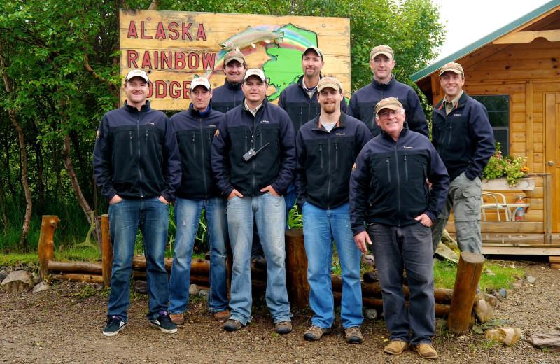 Staff at Alaska Rainbow Lodge.