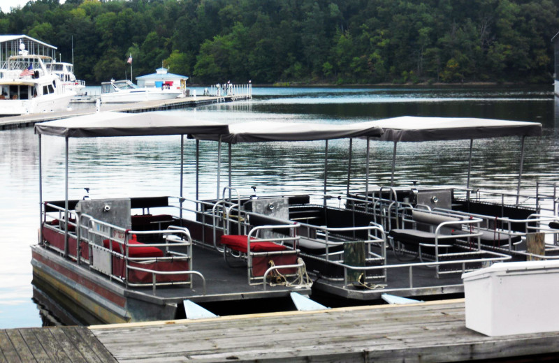 The marina at Buzzard Rock Resort and Marina.