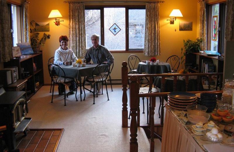 Breakfast at Windermere Creek Bed & Breakfast Cabins.