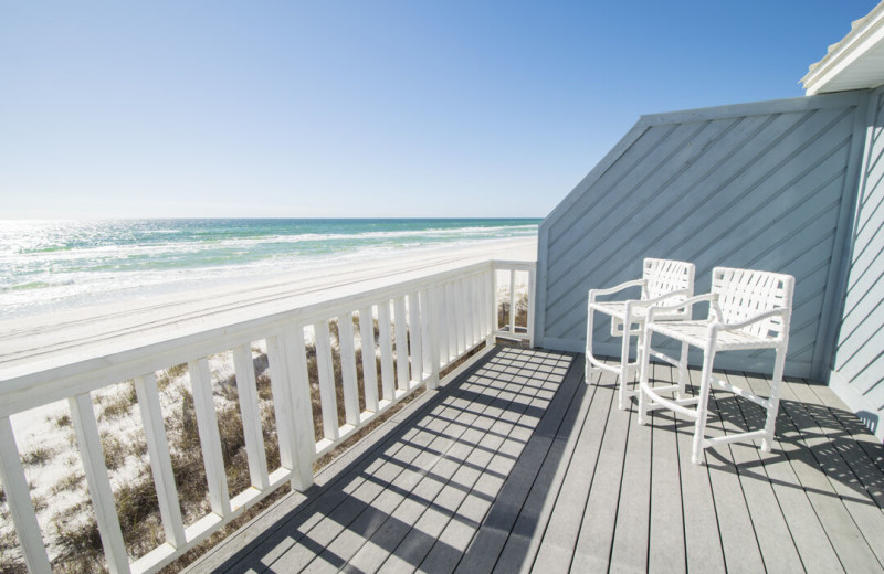 Rental balcony at Paradise Properties Vacation Rentals & Sales.