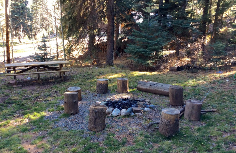 Fire pit at Bear Paw Lodge.