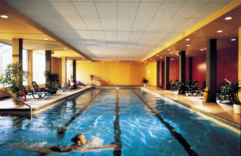 Indoor pool at Le Grand Lodge Mont-Tremblant.
