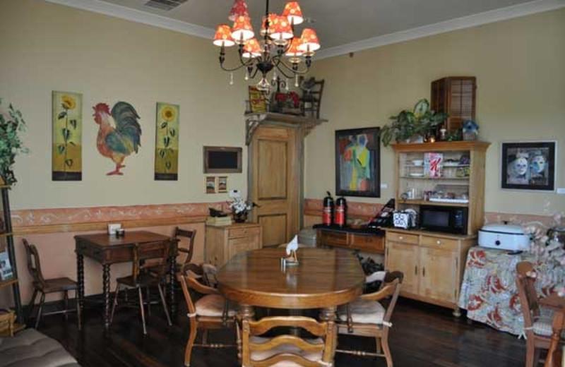 Breakfast room at Crescent Quarters.