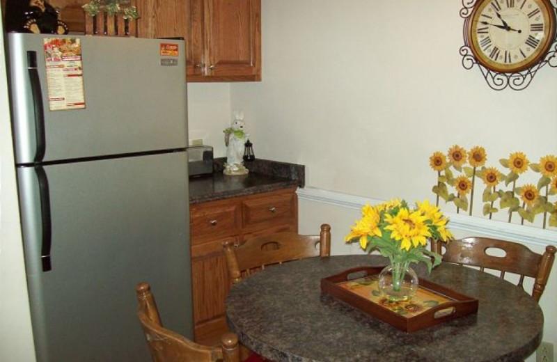 Rental kitchen at Oak Square Condos.