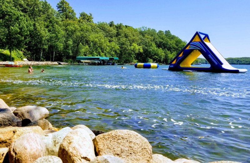 Water slide at East Silent Lake Resort.