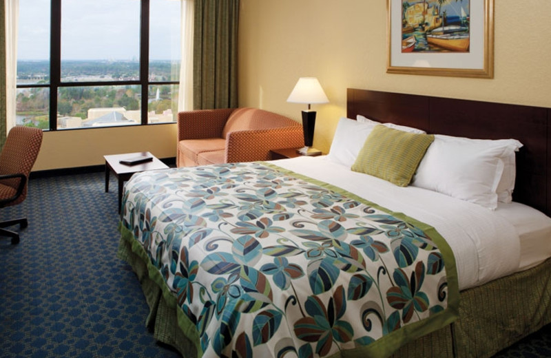 Guest room at Wyndham Lake Buena Vista.