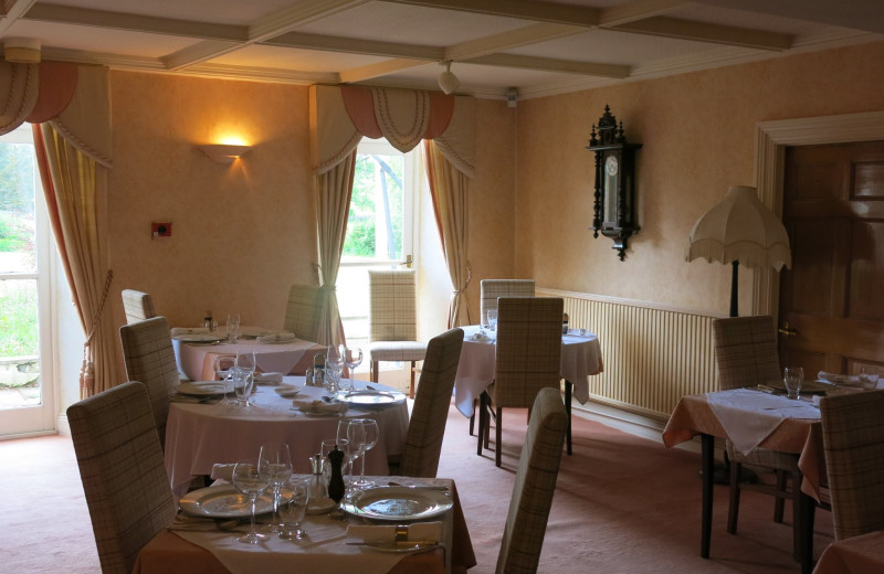Dining at Lovelady Shield Country House Hotel.
