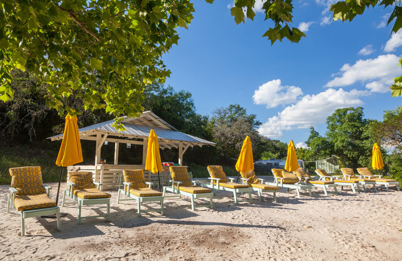 Sun chairs at The Retreat at Balcones Springs.