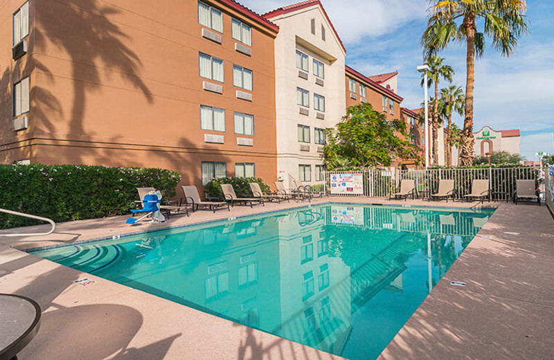 Outdoor pool at Red Roof Inn Phoenix West.