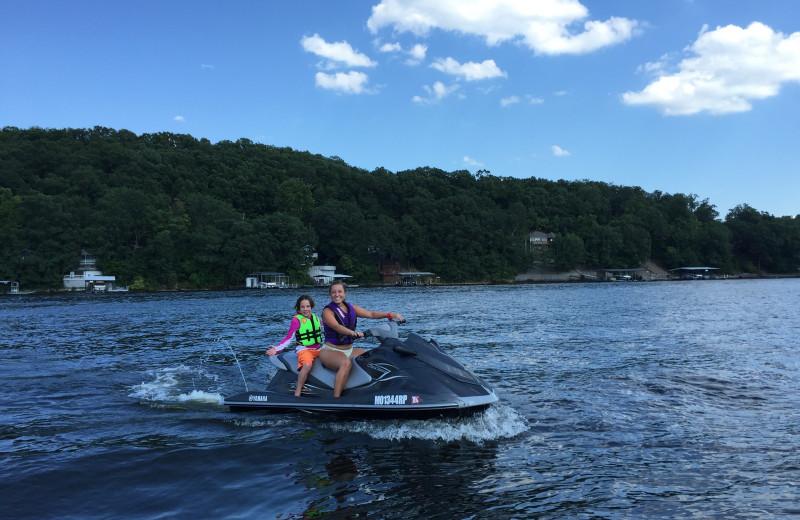 Jet ski at Point Randall Resort.