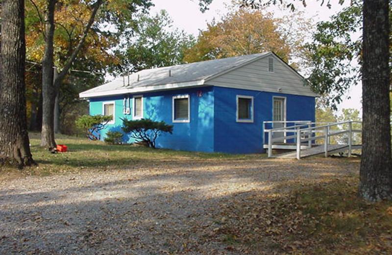 Cabin exterior at Southern Komfort Resort.