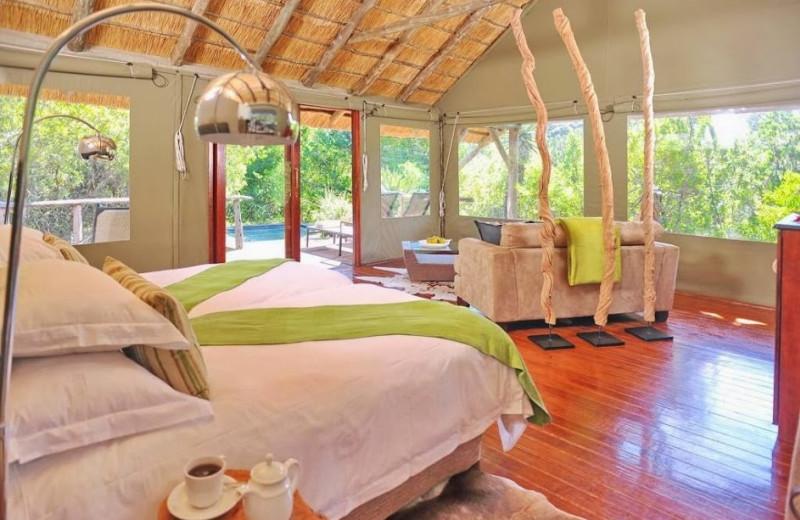 Guest room at Shamwari Game Reserve.