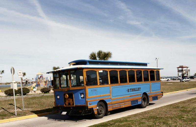Trolley at Coral Cay Condominiums