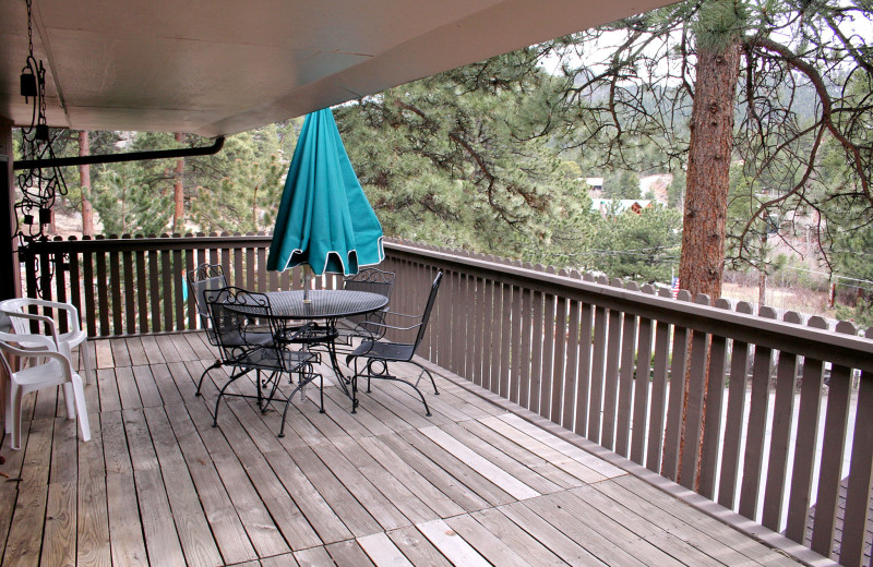 Chalet deck view at Timber Creek Chalets.