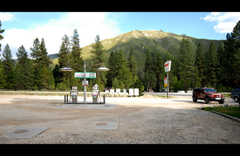 Gas station at Sourdough Lodge.