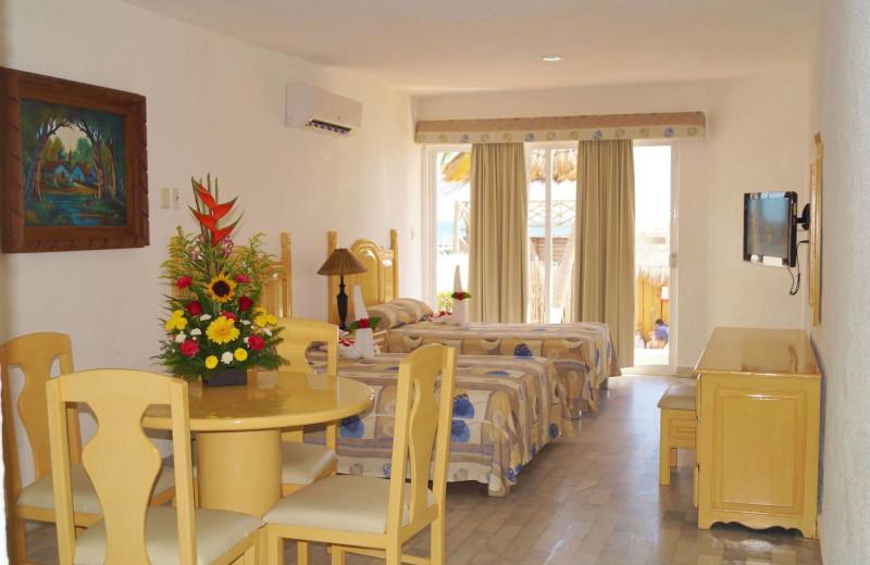 Guest room at Imperial Las Perlas Cancun.