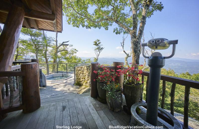 Cabin deck at Blue Ridge Vacation Cabins.