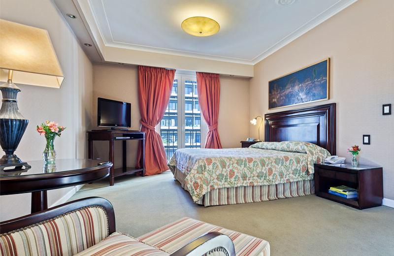Guest room at Claridge Hotel.