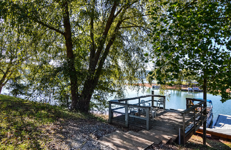 Rental dock at Little Bear Rentals.