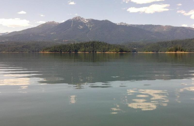 The lake at Trinity Lake.