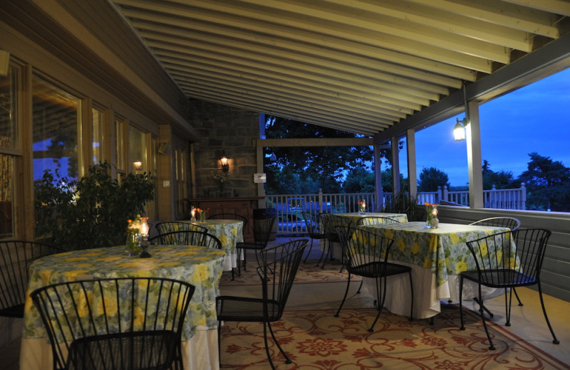 Dining at Strathmere Retreat & Spa.