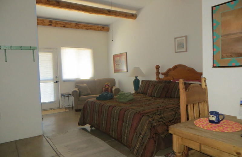 Guest room at Rancho Milagro Bed and Breakfast.