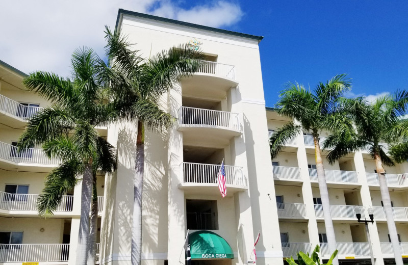 Exterior view of Boca Ciega Resort.