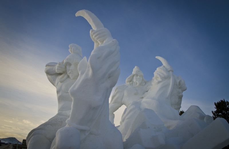 Snow sculptures at Grand Lodge on Peak 7.