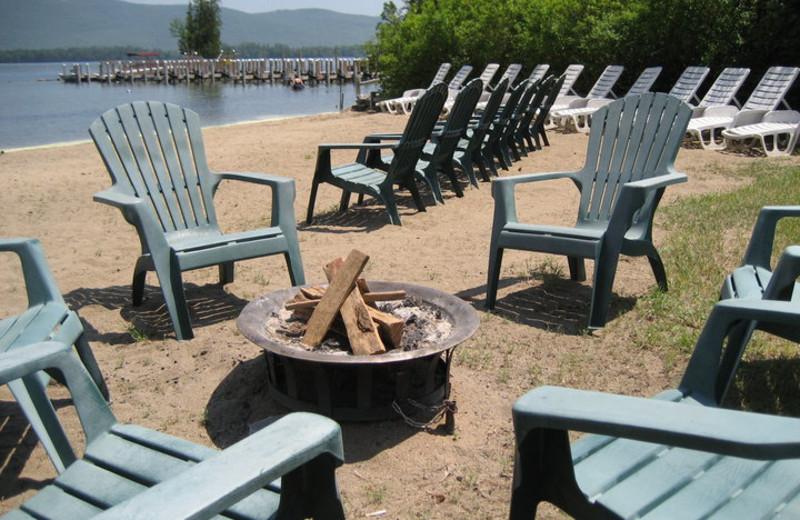 Bonfire beach area at Golden Sands Resort.