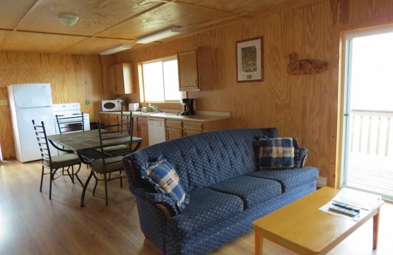 Cabin kitchen at Clark's Resorts & Outposts.