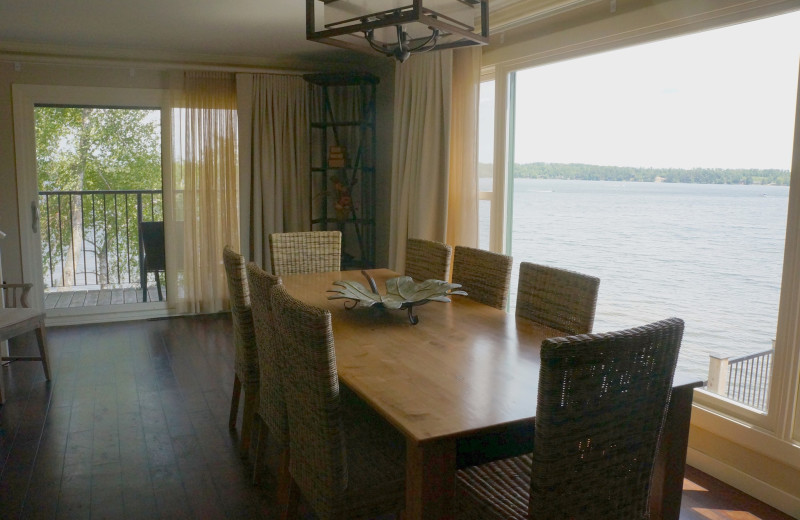 Guest dining room at Madden's on Gull Lake.