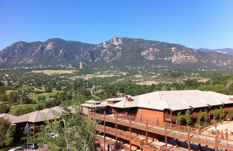 Exterior view of Cheyenne Mountain Resort.