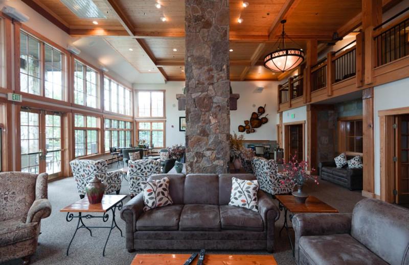 Lobby at Grand Timber Lodge.