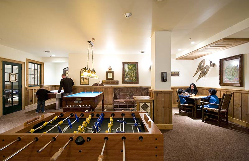 Game room at The Whiteface Lodge.