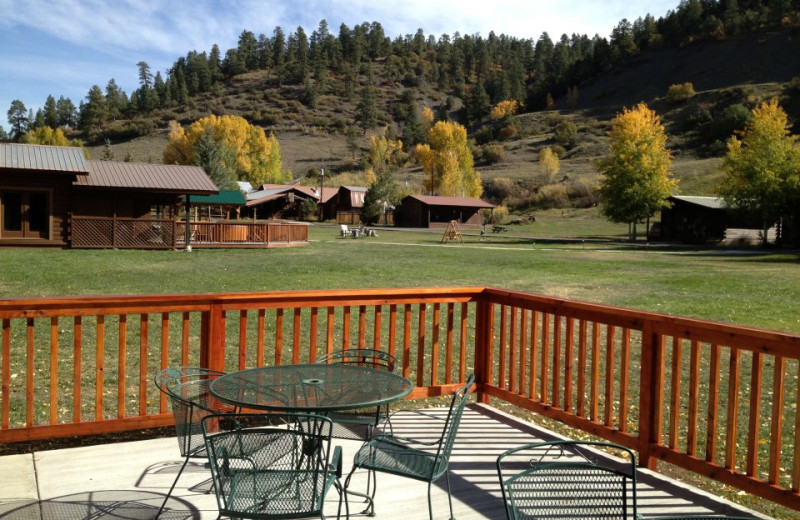 Patio at High Country Lodge.