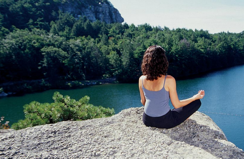 Relaxing Yoga at Mohonk Mountain House