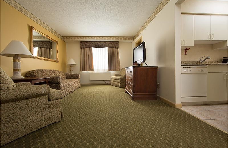 Guest room at Villa Roma Resort and Conference Center.
