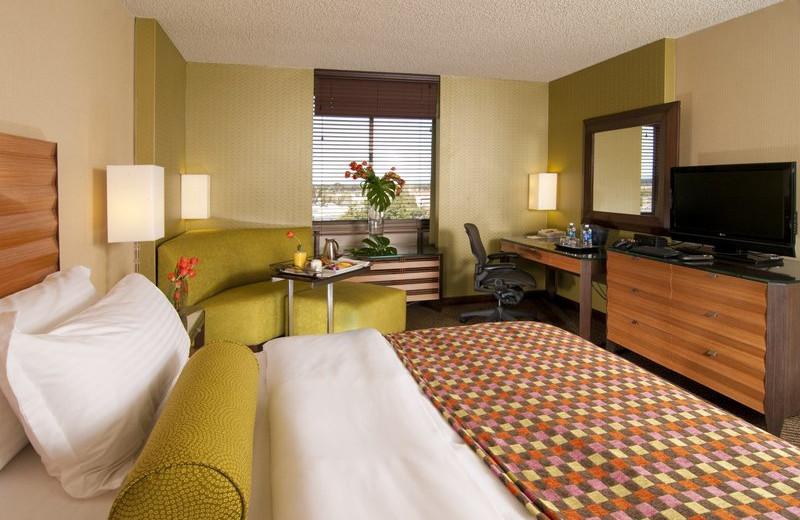 Guest room at Holiday Inn San Jose.