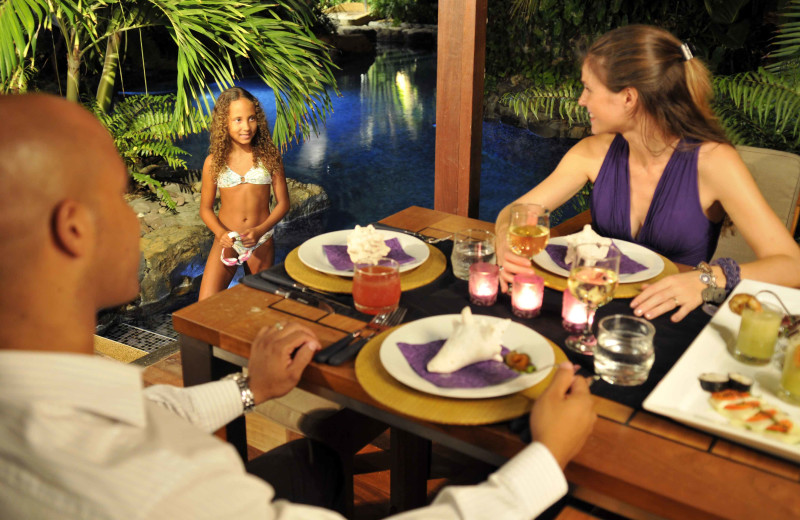 Dining at Baoase Luxury Resort.