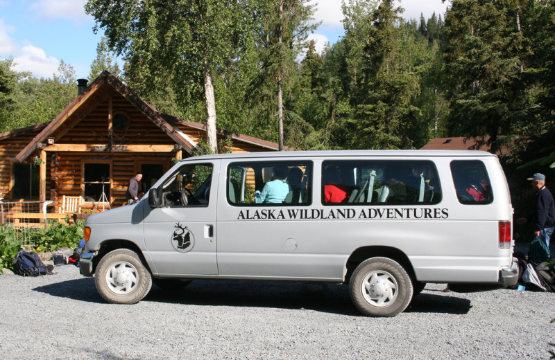 Shuttle service at Kenai Riverside Lodge.